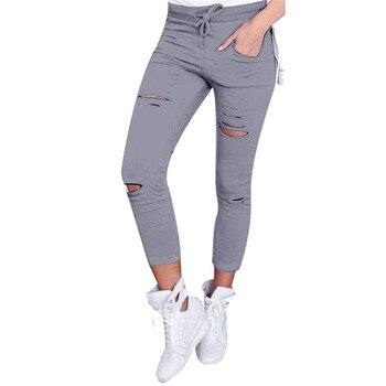 2019 JAYCOSIN High Waist Skinny Fashion Boyfriend Material Jeans for Hot Women Hole Vintage Girls Slim Ripped Denim Pencil Pants 1