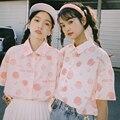 XEJ японская кавайная рубашка, Женские топы для женщин, летние туники, футболки с коротким рукавом, шифоновая блузка с персиковым принтом для ...
