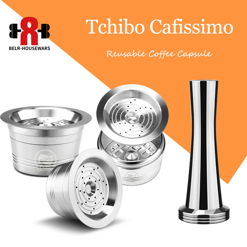 Reusable Coffee Filters Tchibo Cafissimo Classic Coffee Capsule Refill Pod For Caffitaly K-fee Coffee Machine Kitchen Accessory