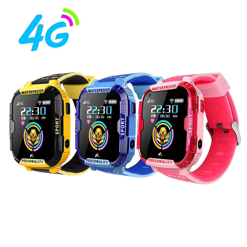 T19 Kids watch 4G smart watches GPS LBS tracker WIFI location SOS call 1.4' Camera children HD Video call clock gift