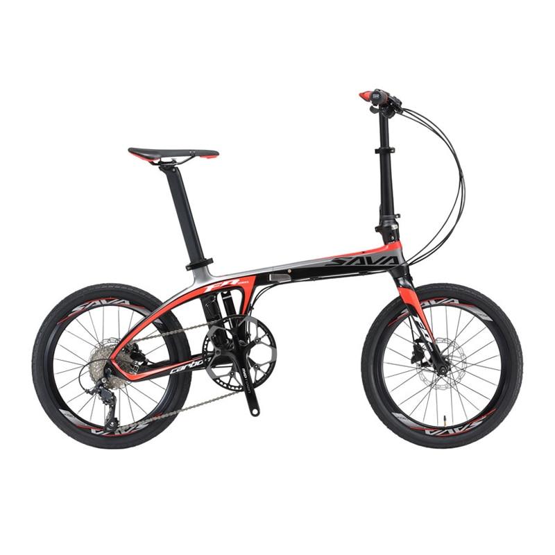 SAVA Folding Bike 20 inch Folding bicycle Foldable Carbon Folding Bike 20 inch with SHIMANO 105 Innrech Market.com