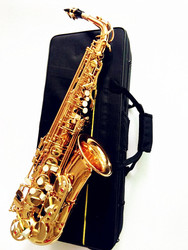 High quality Saxophone New Golden Alto Saxophone Contract Super Sounding Musical Instruments and case
