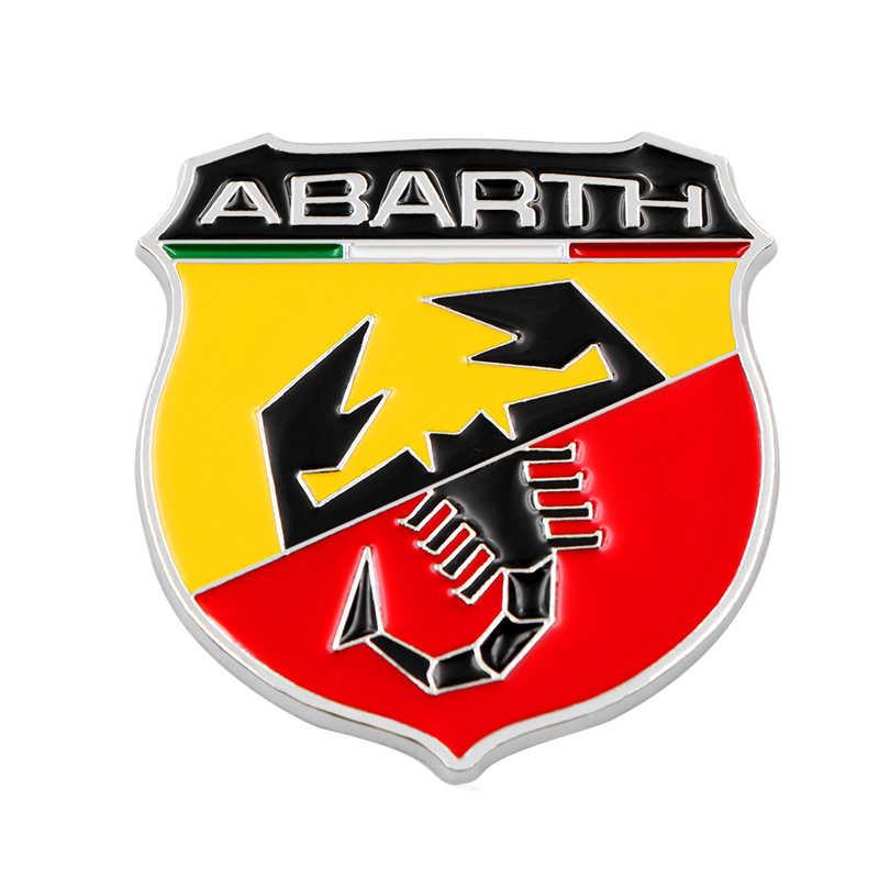 3D メタルイタリア Abarth サソリ粘着バッジエンブレムデカールステッカーフィアット Viaggio Abarth Punto 124 125 500 カースタイリング