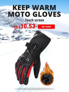 Motorcycle-Gloves Guantes Gant Touch-Screen Winter Waterproof Men 100-%