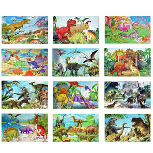 Dinosaur Puzzle, Wooden Puzzles 60 Pieces Puzzles for Kids 3 Years+Dino Toys Boy Jigsaw Picture Puzzles Educational Toys