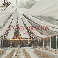145CM Width Ice Silk Ceiling Drapery Roof Canopy Fabric Draping For Wedding Event Decoration