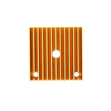 MK7 MK8 Extruder Heat Sink 40*40*11 Golden Metal 3D Printer Makerbot Prusa i3(China)