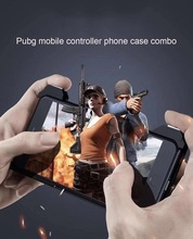 PUBG mobile Gaming Trigger Shooter Controller phone case for iPhone X 6 6s 7 8 XS  Physical external hanging