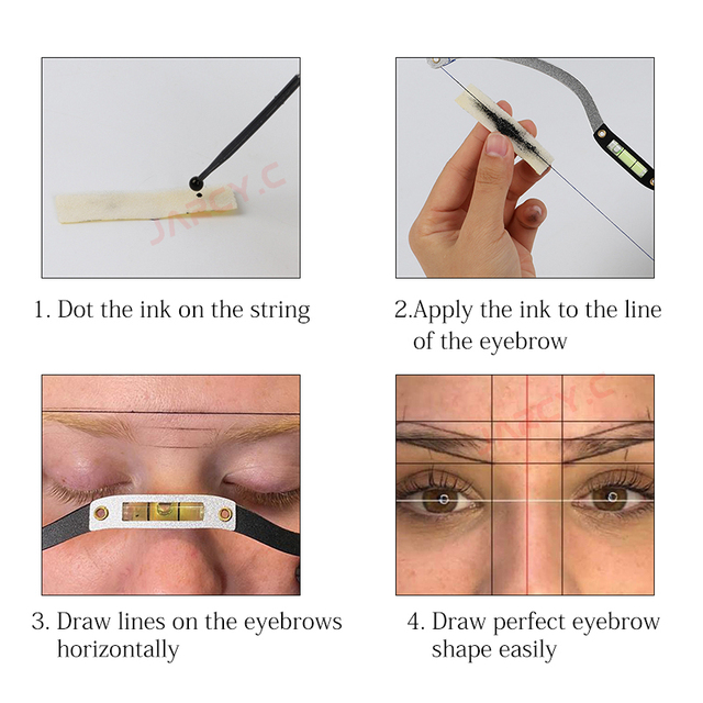 10pcs Microblading Mapping String Tattoo Brow Point Measuring 10m Pre Inked Eyebrow Mark Thread Tattoo Microblading Supplies 2