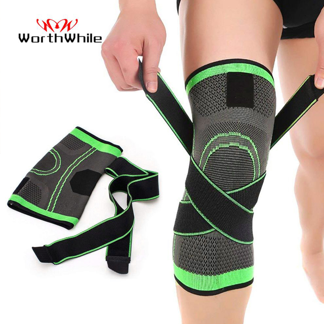 WorthWhile 1PC Sport Pressurized Kneepad Elastic Knee Pads Support Sleeve Basketball Volleyball Brace Training Fitness Protector 1