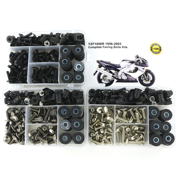 For Yamaha YZF1000R 1996-2003 Full Fairing Bolts Kit Covering Bolts Motorcycle Complete Fairing Clips Nuts Screws Steel for yamaha tmax 530 tmax530 2012 2019 complete full fairing bolts kit bodywork screws steel clips speed nuts covering bolts