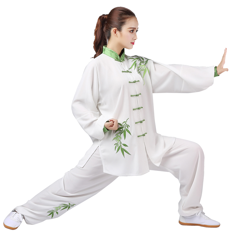 2019 Women Chinese Wushu Uniform Jiu Jitsu Kung Fu Tai Chi Suit Female Tang Suit Embroidery Martial Arts Performance Sets