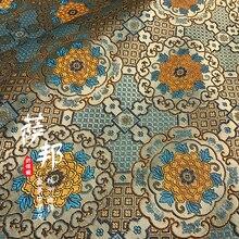 Jacquard Fabric Silk Dress Quilt Curtain Pillow Cloth Table-Flag Qipao Peony Handmade-Material