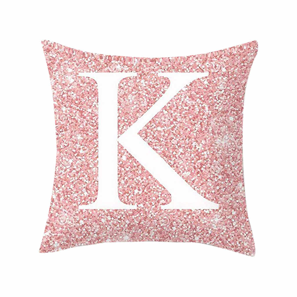 手紙クッションカバー枕ケース綿繊維クッションソファ車のクッションカバー家の装飾ソファベッド装飾枕ケース