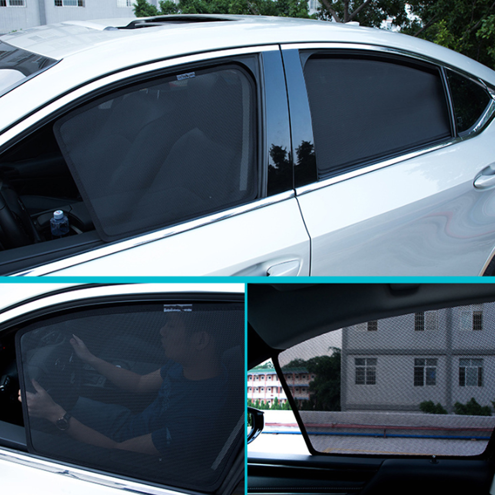 Sunproof Window Mesh For Toyota Camry 2012~2017 Car Window Sunshade Gauze Mesh Sunshield Cover Magnetic Attraction Styling