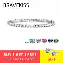 BRAVEKISS 5 цветов, модный роскошный хрустальный Теннисный браслет, циркониевые бусины, браслет, цепочка, браслеты для женщин, BUB0097