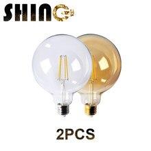 2pcs/Lot 2021 Rushed Sale Ce Rohs Decor Retro Edison Led Filament Bubble Ball Bulb G125 8w 220v For Home Bedroom Decoration