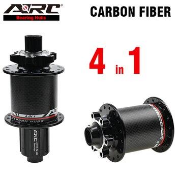 цена на ARC Upgrading Carbon MTB Hub велосипедные ступицы 32 Holes Bicycle Hub Front 2 Bearing Rear 4 Bearing Mountain Bike Wheel Parts