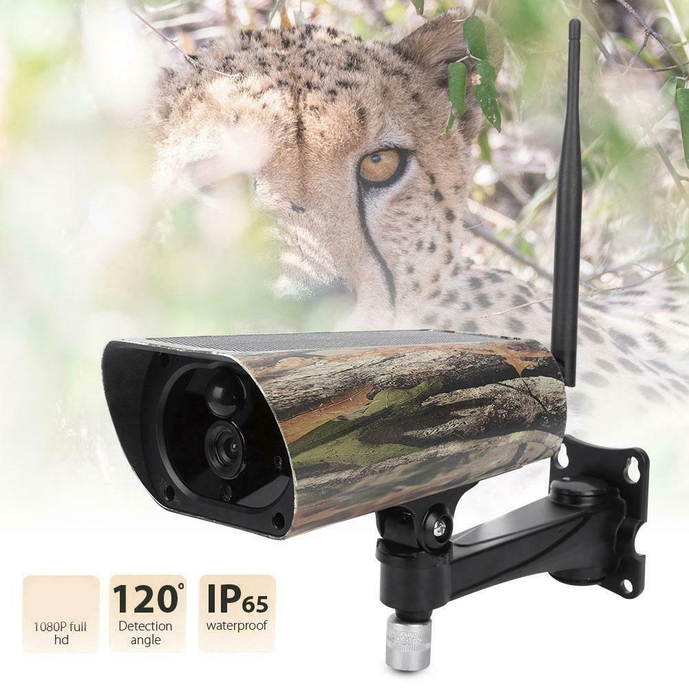 Solar Powered APP Support Security Hunting Trail Camera 1080P HD Wireless Wifi IP Camera Night Vision Animal Game Photo Traps image