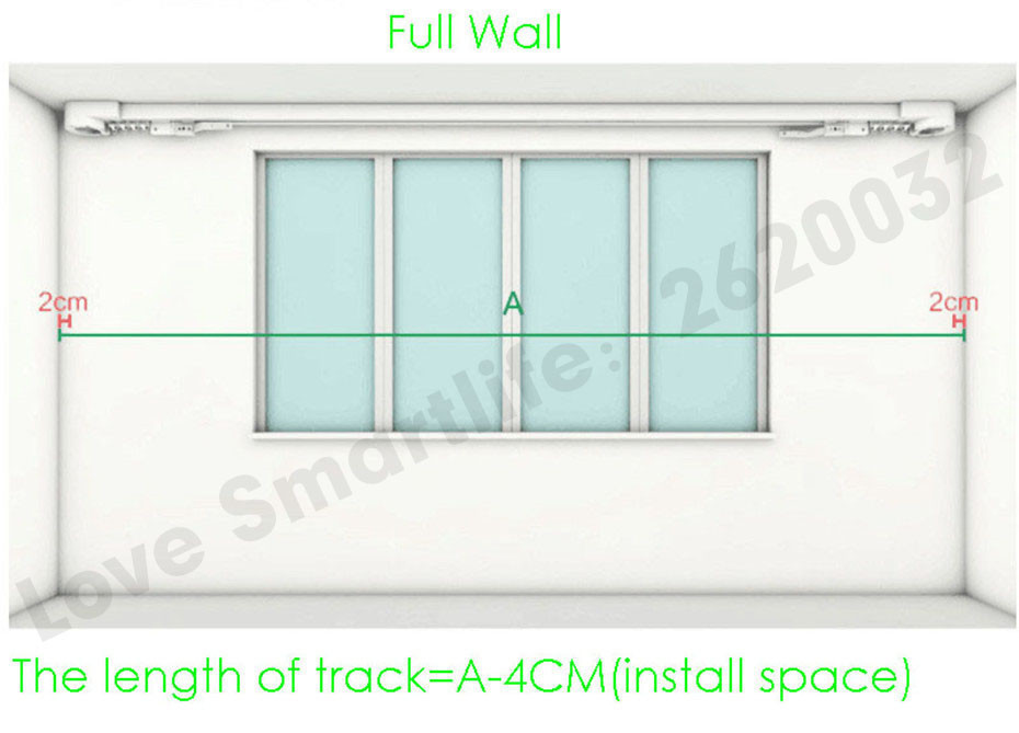 Customize Super Quiet Electric Curtain Track for Aqara Aqara B1 Motor Dooya KT82 DT82 Motor,Smart Curtain Rails System,To Russia