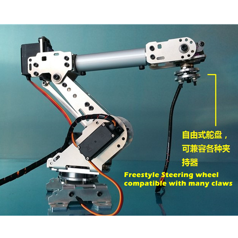 6-axis Robotic Arm Abb Industrial Robot Arm Model Multi-Dof Manipulator Claw Gripper With 6pcs MG996R For Arduino DIY Project