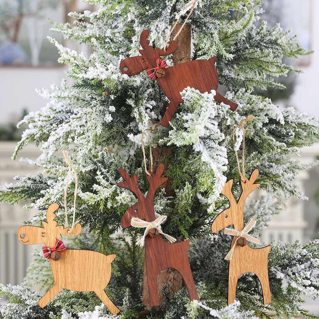 Albero di Legno di Natale Fai da Te Regali di Natale Slitta Ornamenti Pendenti con Gemme E Perle Appeso Albero di Regalo per La Casa di Babbo Natale Buon Natale Del Partito