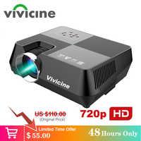 Vivicine 720P HD Proyector opcional Android WIFI Bluetooth HDMI USB PC Mini LED Proyector de película Beamer para Video juegos