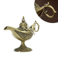 1pc Incense Burner Metal Aladdin Lamp Wishing Lamp Aroma Furnace Aroma Diffuser Desktop Adornment for Office