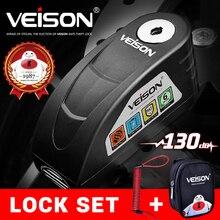 VEISON водонепроницаемый мотоциклетный сигнализатор мотоциклетный замок стальной дисковый замок Защита от кражи велосипедный замок Para Moto Alarma Moto