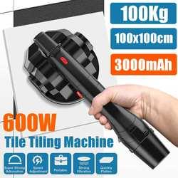 Vibrador de 600W para azulejos 100x100cm máquina de enyesado de baldosas ponedoras con batería de 3000mAh nivelación automática del vibrador del suelo