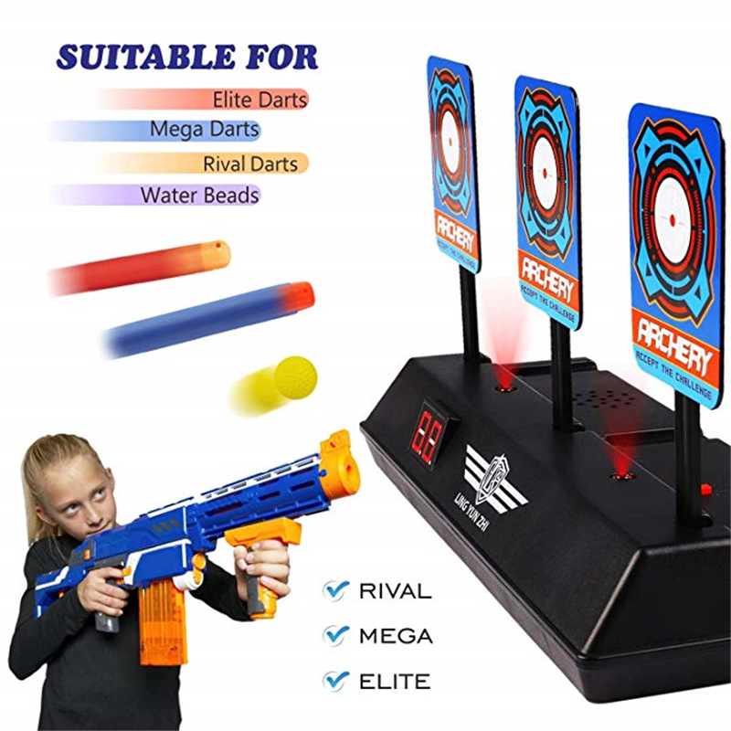 DIY High Precision Scoring Auto Reset Electric Target For Nerf Gun Accessories Toys For Outdoor Fun Sport Toy For Dropshipping