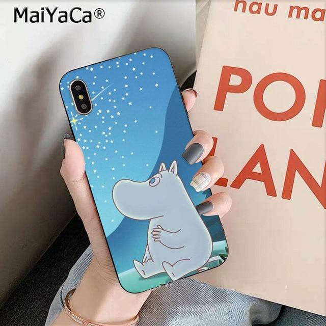 MaiYaCa Hippo moomin sevimli hayvan karikatür telefon kılıfı için Apple iPhone 8 7 6 6S artı X XS MAX 55S SE XR 11 pro