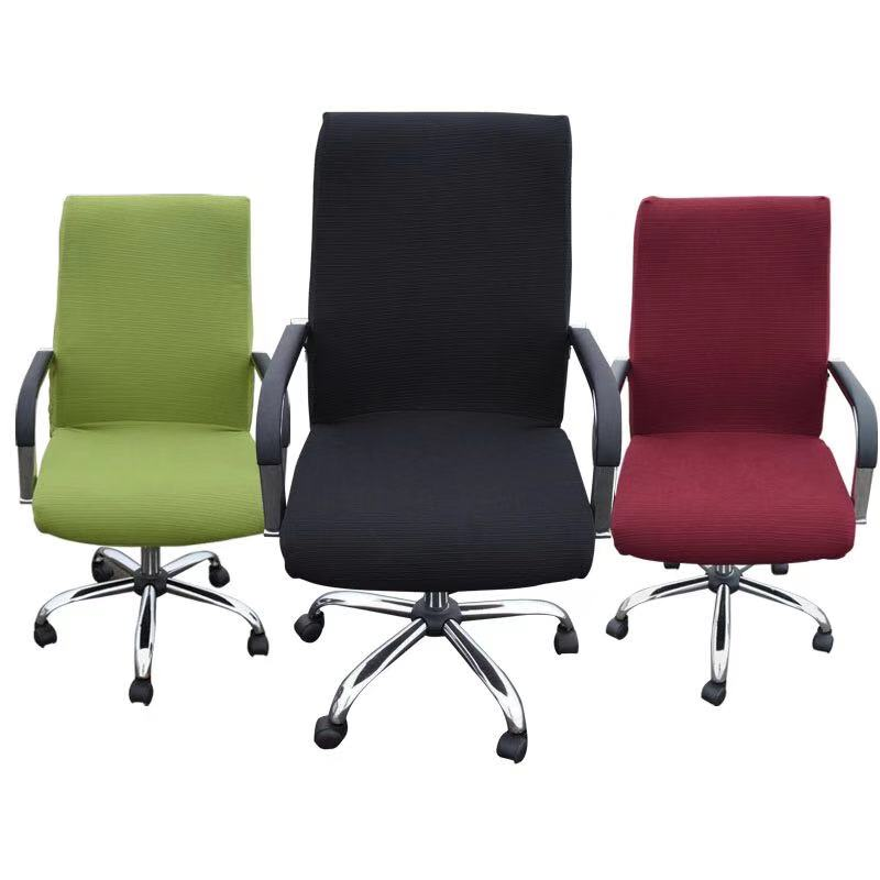 Spandex Computer Chair Cover 100% Polyester Universal Elastic Office Chair Cover Stretch Armchair Slipcover Seat Cover(China)