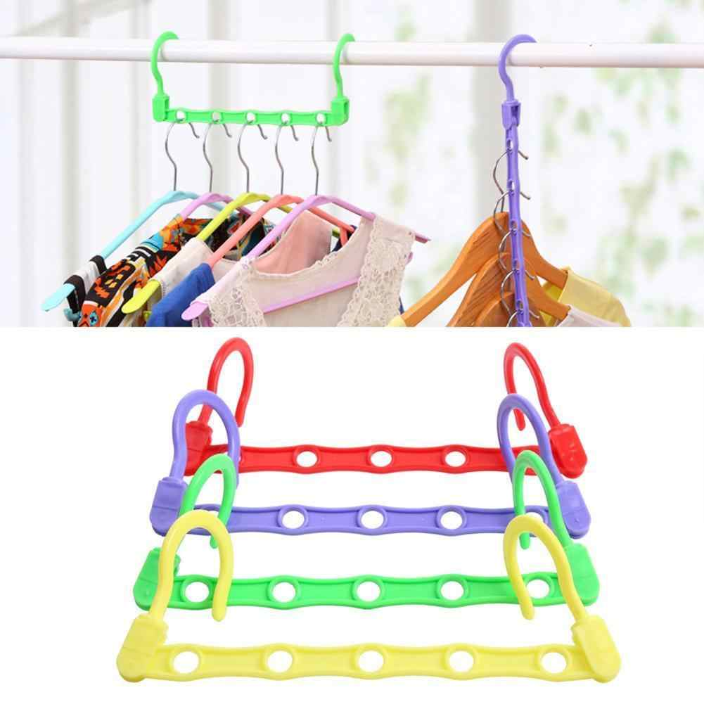 5 Hole Rack Eco-friendly Space Saving Hanger Magic Organizer Bathroom With Clothes Hanger Accessory Closet Hook Kitchen Sto H2P0