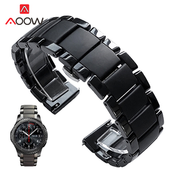 20mm 22mm Ceramic Strap Replacement Band for Samsung Galaxy Watch3 Active2 42mm 46mm Gear S3 Huawei Watch GT 2 Amazfit GTR 47mm
