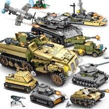 1061 sztuk wojskowe Technic żelaza imperium zbiornik zestawy klocków budowlanych broń wojna rydwan żołnierze sił zbrojnych Juguetes Playmobil dzieci zabawki