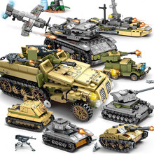 1061Pcs צבאי טכני ברזל אימפריה טנק אבני בניין סטי נשק מלחמת מרכבת צבא חיילים Juguetes פליימוביל ילדים צעצועים
