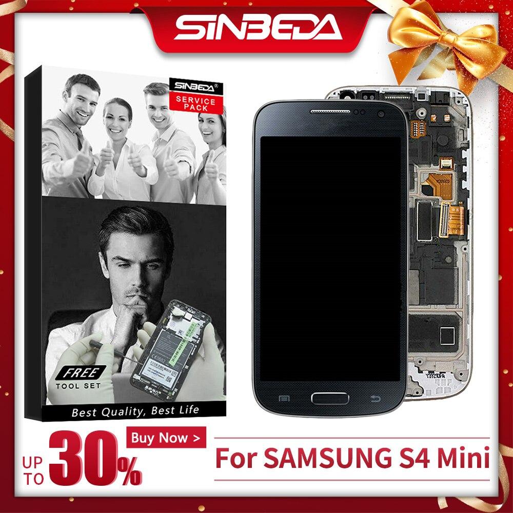 AMOLED для samsung S4 Mini, ЖК дисплей для samsung Galaxy S4 mini I9190, GT i9192 i9195, дигитайзер, сенсорный экран с рамкой Экраны для мобильных телефонов      АлиЭкспресс
