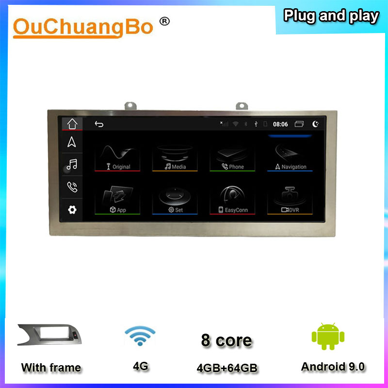 Ouchuangbo multimedia concert <font><b>sportback</b></font> with <font><b>A5</b></font> A4 A4L 2009-2016 with android 9.0 radio 8.8 inch 4GB+64GB original style image