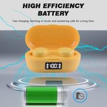 BOHM S100 אלחוטי Bluetooth 5.0 TWS אוזניות מיני אוזניות ספורט Macaron אוזניות עם טעינת תיבת לxiaomi oppo smartphone