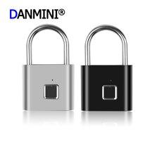 Keyless USB Ricaricabile Serratura Della Porta di Impronte Digitali Smart Lucchetto Portatile Universale Rapido Sblocco Per La Borsa/Armadio/pantaloni di Sicurezza del Tronco