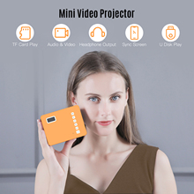 Mini Portable Video Projector LED Movie Projector Home Theater 1080P Supported 110 Inch