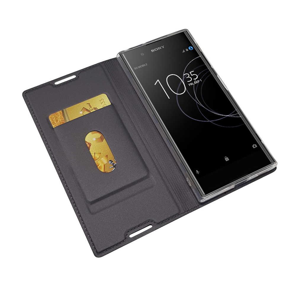 יוקרה עור Flip ספר מקרה עבור Sony Xperia XA X ביצועים XP Z5 מיני קומפקטי XZ פרימיום XZS XZ1 XA1 בתוספת L1 מעטפת כיסוי