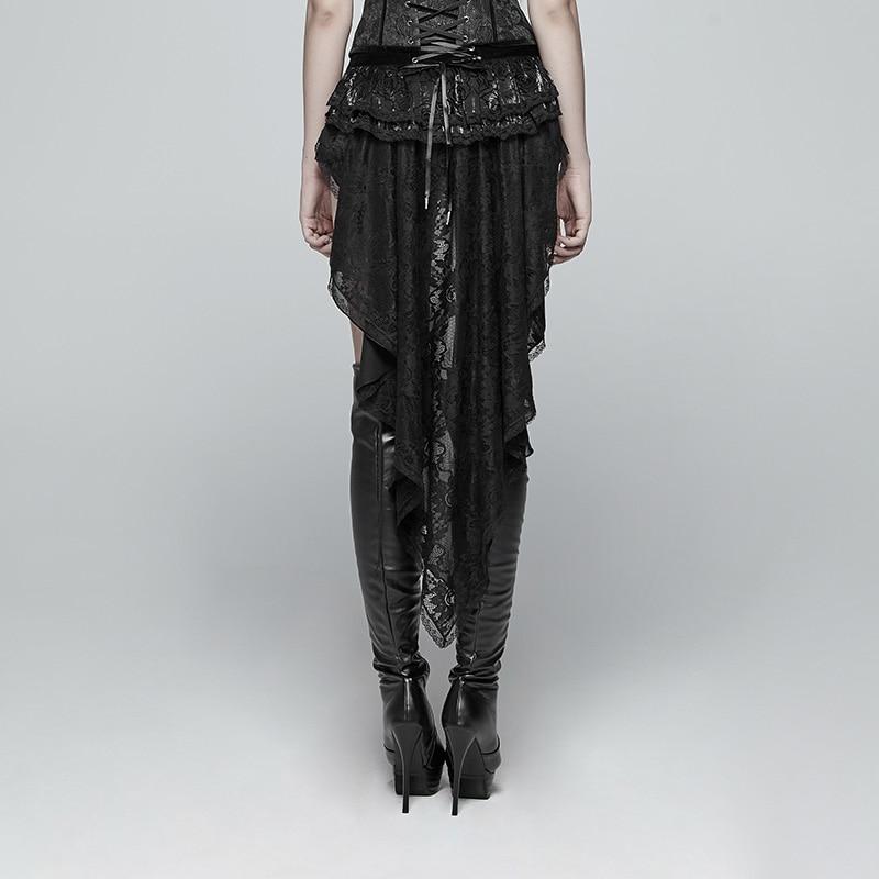 PUNK RAVEwomen Gothic Shorts Zwaluw Staart Shorts Mode Retro Vetersluiting Victoriaanse Sexy Paleis Steage Prestaties Shorts - 3