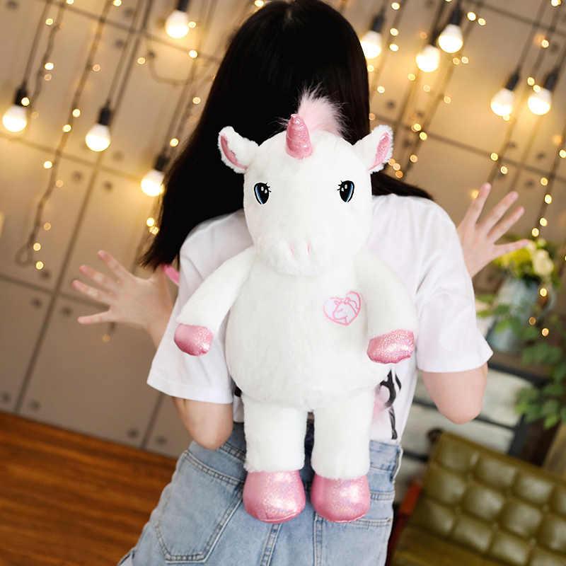 Hot New 50/60cm Kawaii jednorożec pluszowy plecak Rainbow UnicornSoft zabawka pluszowa torba na ramię dla dzieci dla dzieci dziewczyny urodziny lalka prezentowa