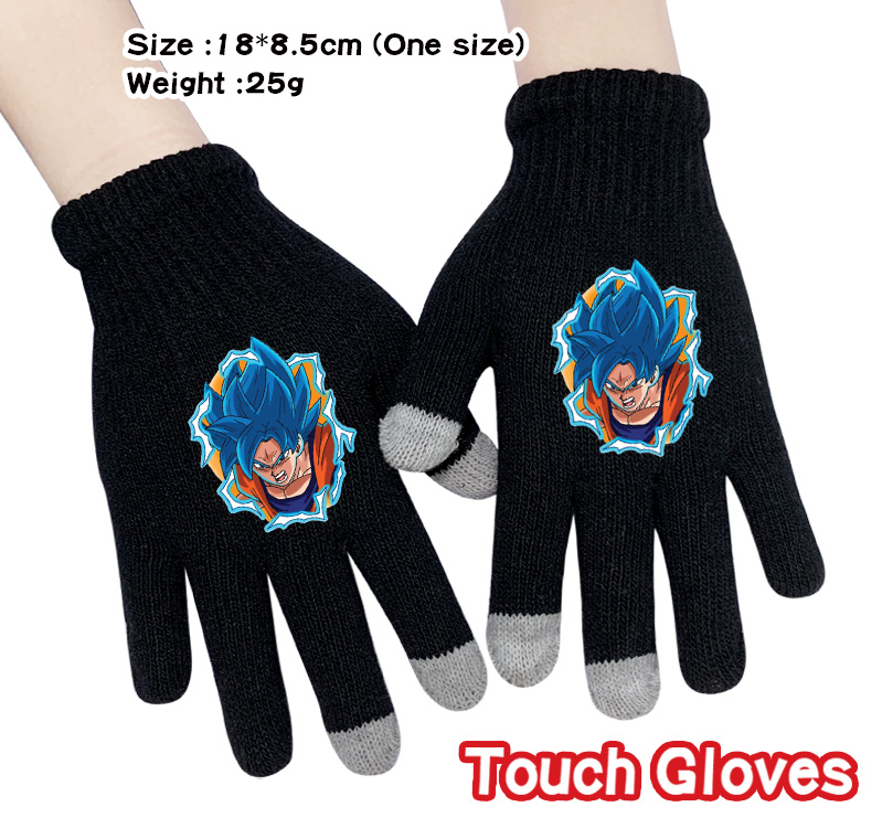 Dragon Ball Son Goku Gloves Fashion Touchscreen Winter Warm Finger Glove Cosplay Accessories