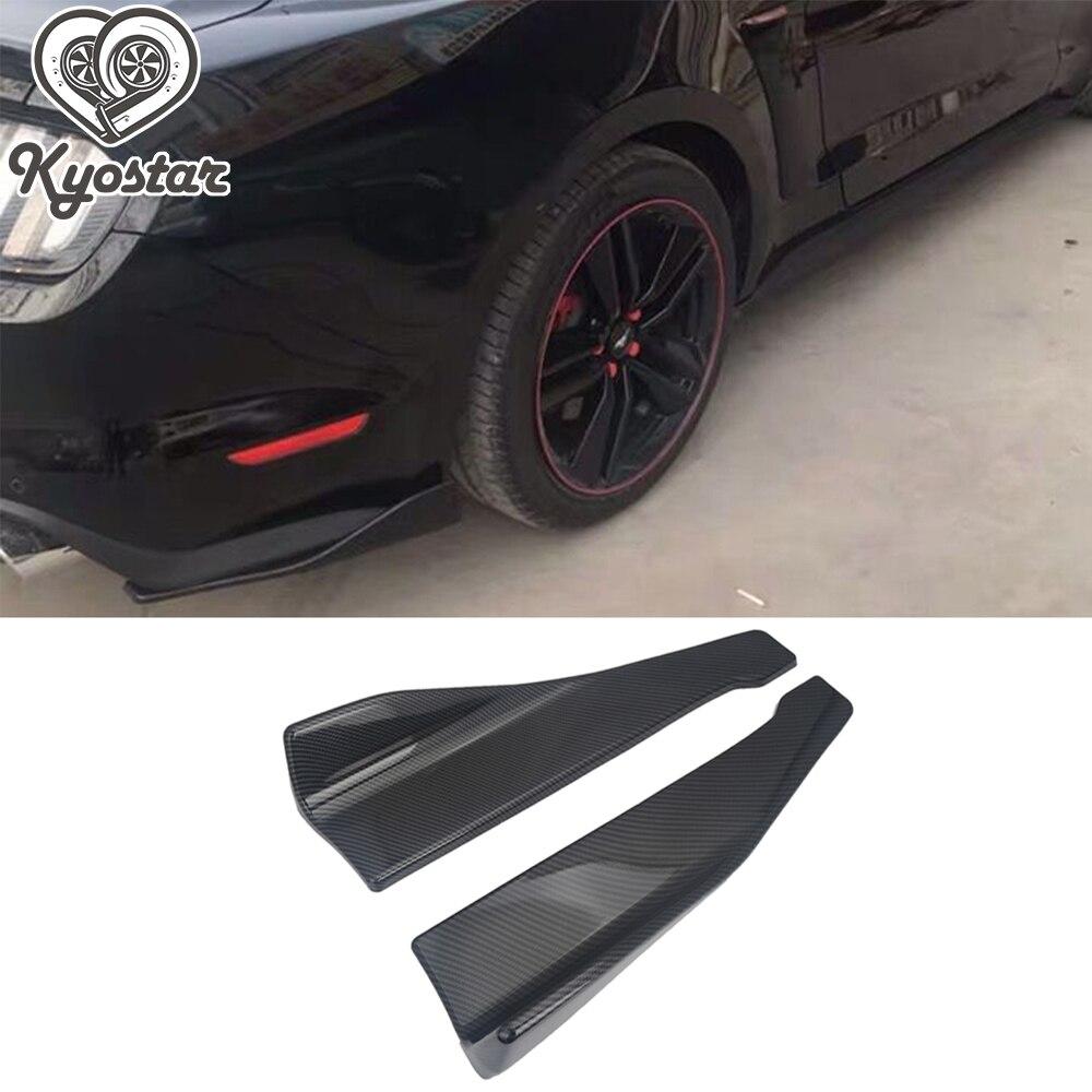 48cm Carbon Fiber Look Rear Bumper Spoiler Canards Diffuser Car Side Fin Scratch Protector Rear Lip Wrap Angle Splitters Bumpers Aliexpress