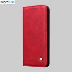 Luksusowe Retro wąskie etui skórzane dla XiaoMI MI A3 przypadku portfel Slot kart stojak magnetyczny okładka książki dla Xiomi MI A3 przypadki telefonów
