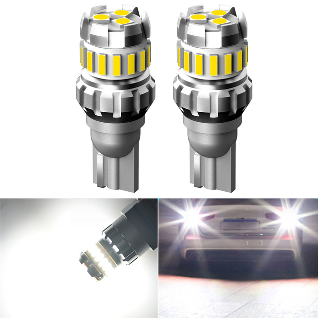 2x W16W T15 LED Canbus Error Free Car Backup Reverse Lamp for Ford Fiesta Fusion Focus Mondeo Kuga Ranger Mustang S MAX 12V Led