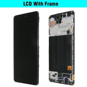 Image 2 - 100% süper AMOLED 6.5 Samsung Galaxy A51 LCD A515 A515F A515F/DS A515FD dokunmatik ekran çerçeve Digitizer meclisi